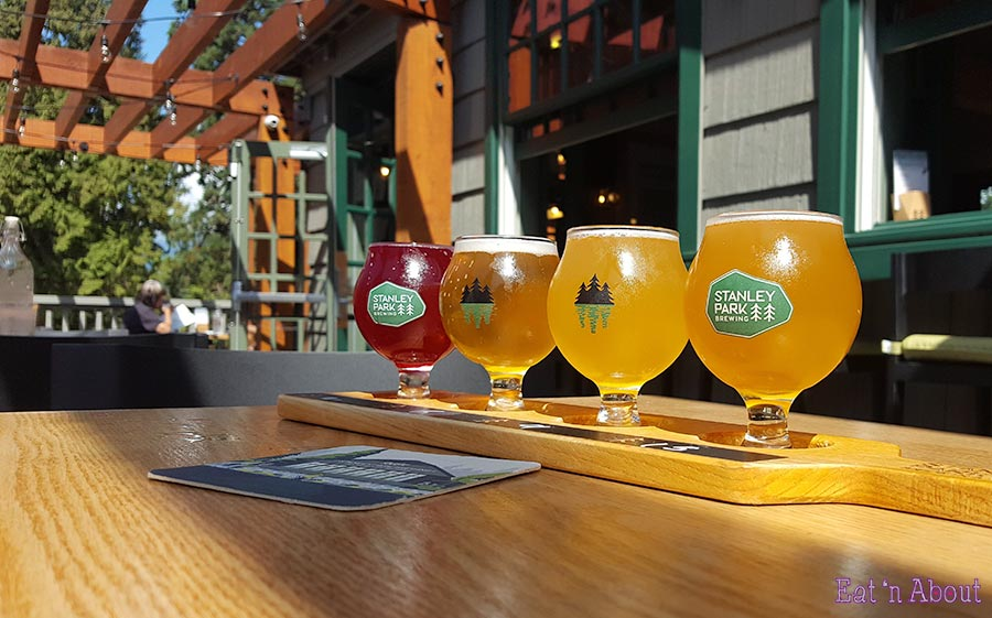 Stanley Park Restaurant & Brewpub - Flight of beer