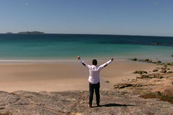 rias baixas beach galicia