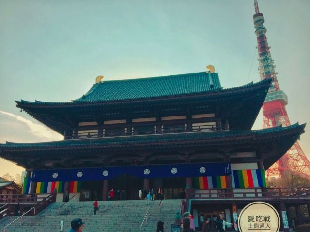 。東京 賞櫻 。東京鐵塔+增上寺:神社、鐵塔與櫻花的美麗交織