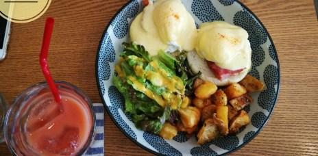 。沖繩 那霸。C&C Breakfast:在牧志市場巷弄內的美式早餐,好吃的班尼迪克蛋&舒芙蕾。