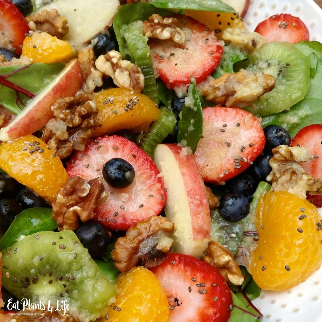 A Plate of Gold: Rainbow Salad & Fuji Vinaigrette