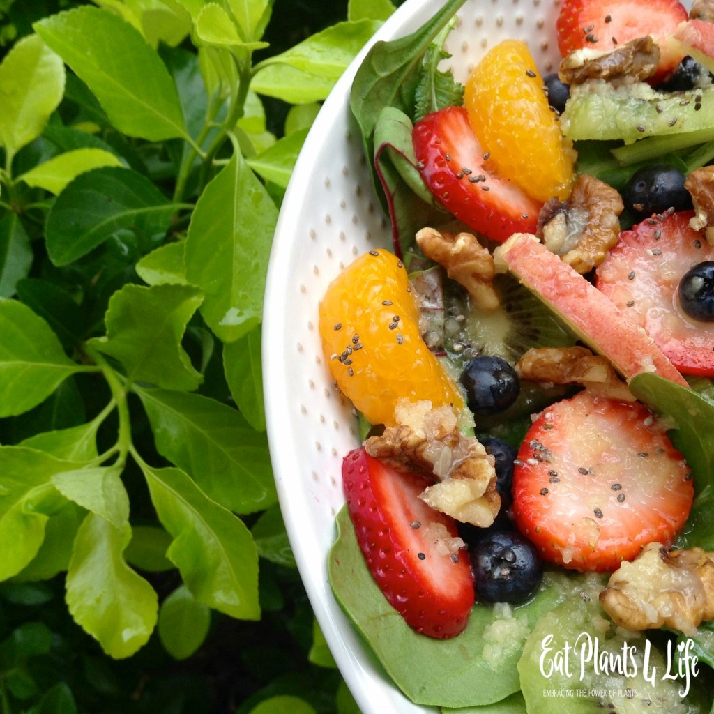 A Plate of Gold: Rainbow Salad & Fuji Vinaigrette 3