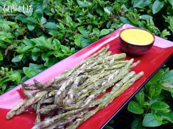 Lemon-Pepper Battered Asparagus Fries 4