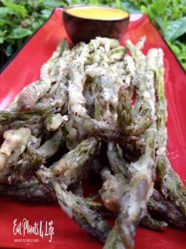 Lemon-Pepper Battered Asparagus Fries 5