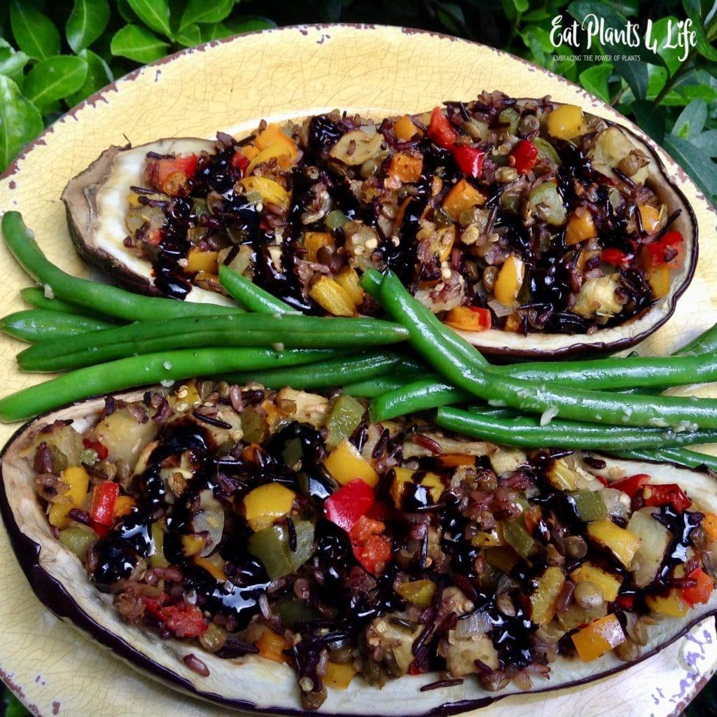 Stuffed Eggplant recipe with tabbouleh