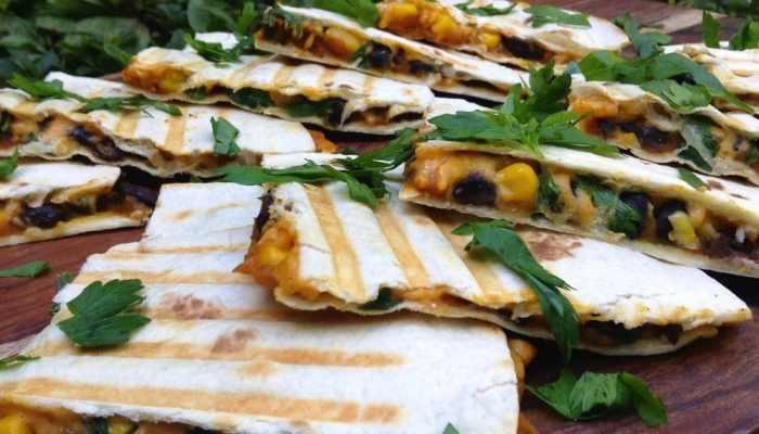 Pumpkin-Black Bean Quesadillas Recipe 2 | Eat Plants 4 Life