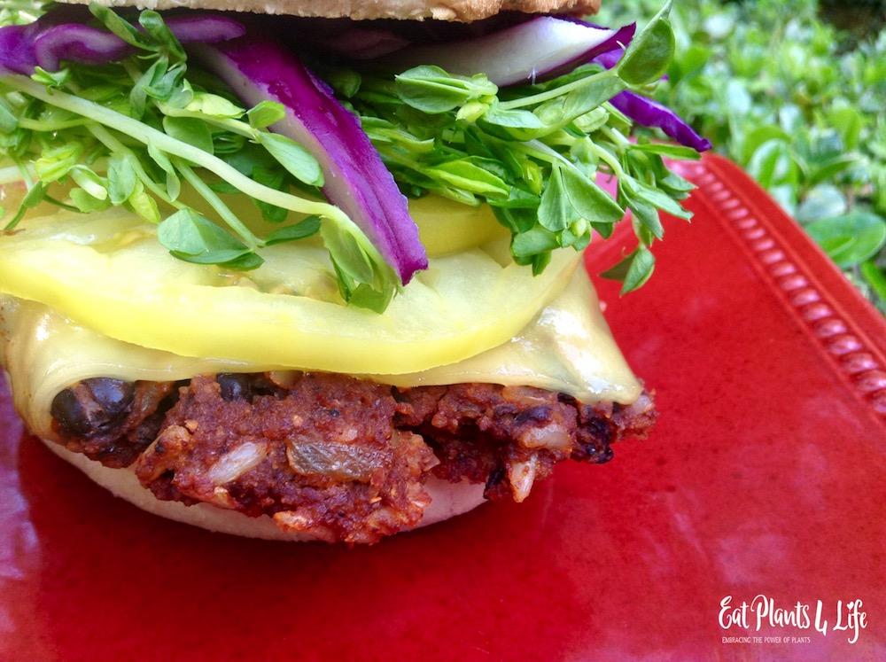 Balsamic Corn Salad & Vegan Burgers 4