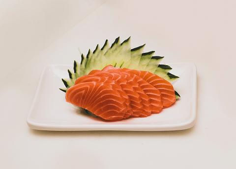 salmon and cucumbers