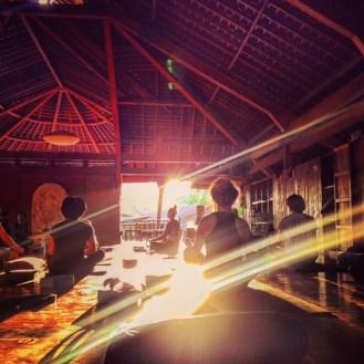 Sunset at The Yoga Barn