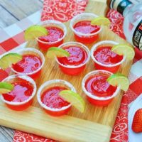 Shelter In Place With Strawberry Margarita Jello Shots