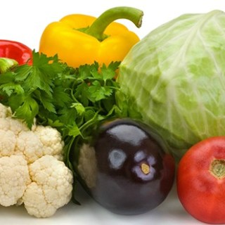 cropped fresh vegetables