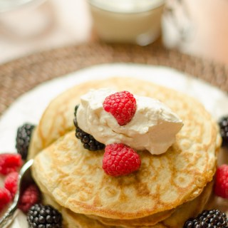 pancakes with whipped cream