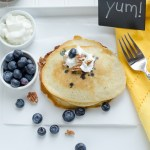 wheatfree blueberry pancakes