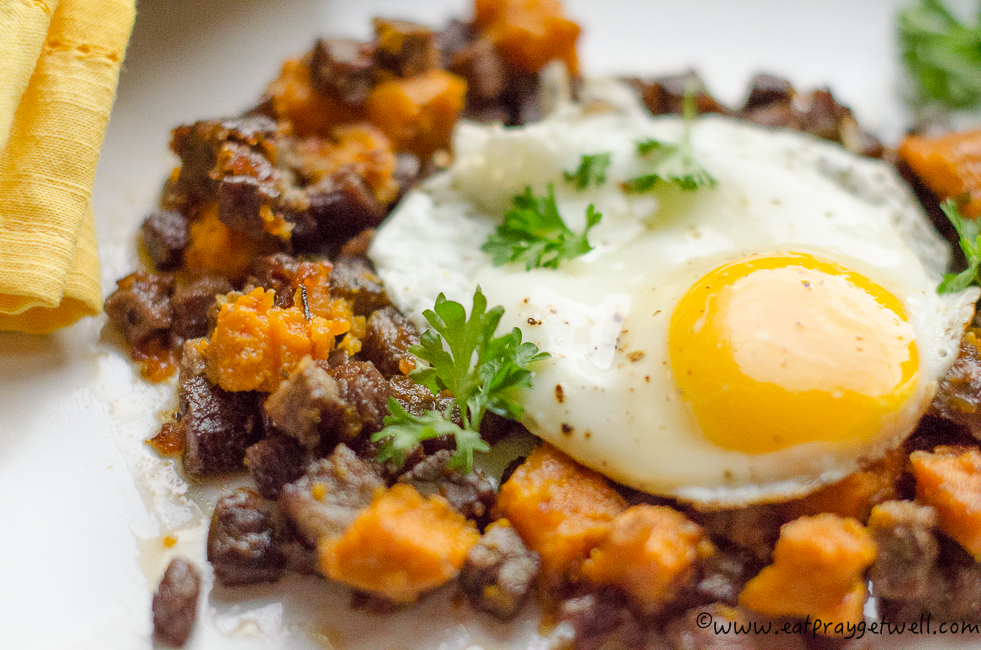 sweet potato corned beef hash-3