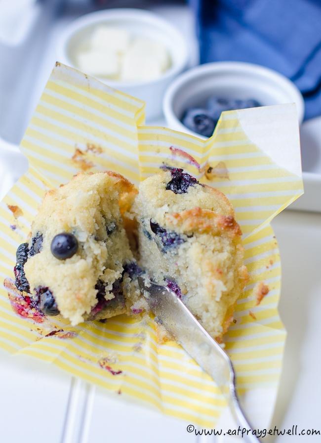 sugar free blueberry muffins recipe