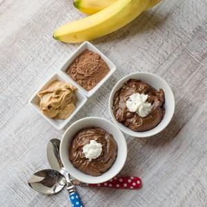chocolate peanutbutter banana pudding