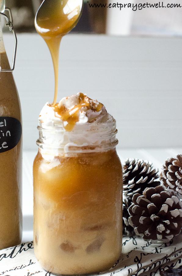 caramel pumpkin coffee creamer with whipped cream