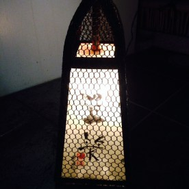 The shop is hard to spot--other than the small lantern with Tamawarai's kanji written on top