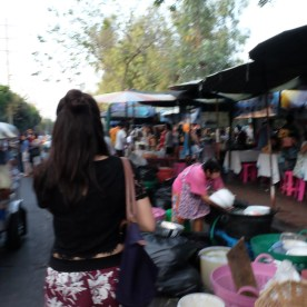 Strolling through Chatuchak market for some street eats