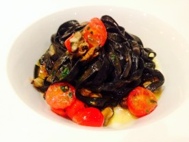 Squid Ink Pasta from Il Punto in Hells Kitchen