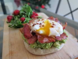 Making an egg benedict post as editor of JHU Spoon University