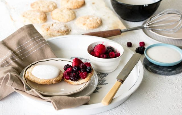 Berrylicious Coconut Cream Scone Biscuits (gluten free with dairy free options)