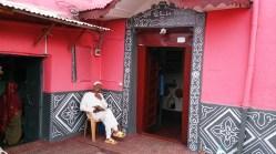Puerta en una casa de Harar, Etiopía