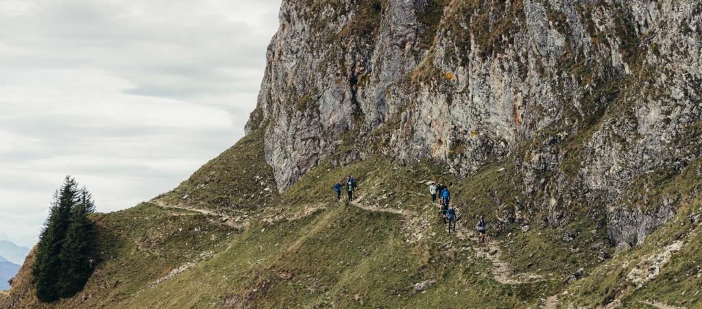 Unterhalb des Kletterfelsens Richtung Rotwand Gipfel