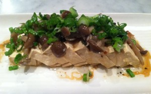 Smoked tofu with honshimeji confit and soy truffle vinaigrette from Joule. Photo credit: Jackie Donnelly.