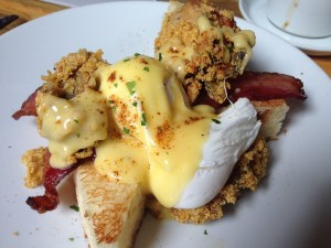 Bacon and oyster benedict from RockCreek