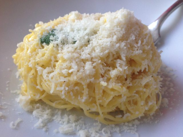 Tajarin with butter and sage from Cascina Spinasse