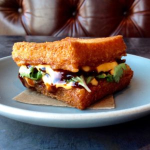 Shrimp toast sandwich with herbs and sriracha mayo from Son of a Gun. Photo credit: Brianne Chan.