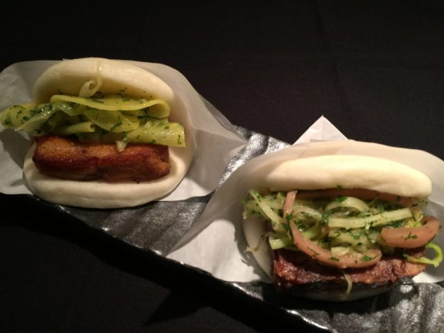 Braised pork belly and Muscovy duck confit terrine baos from The Chairman Truck. Photo courtesy of Hiroo Nagahara.