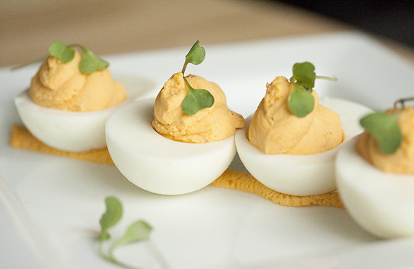 Gale's sriracha deviled eggs from Spritzburger