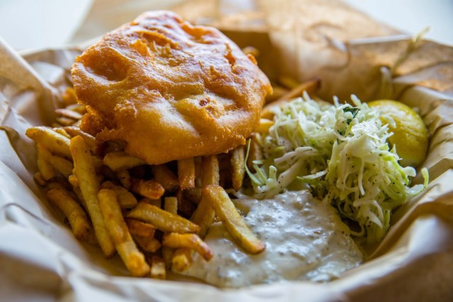 Halibut and chips from The Fish Counter. Photo credit: Stephen Tang.