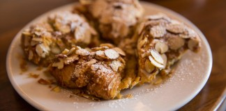 Double-baked almond croissant from Thomas Haas in Vancouver, British Columbia, Canada
