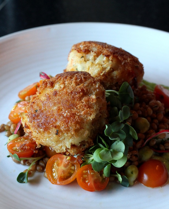 Crab cakes from Dahlia Lounge and Etta's