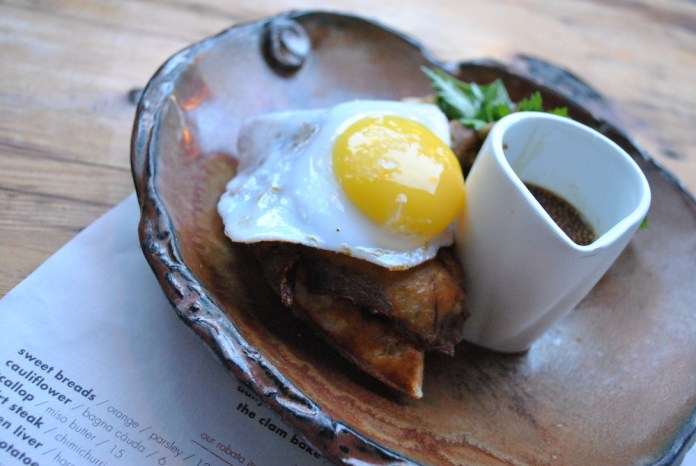 Duck & waffle from SUGARCANE