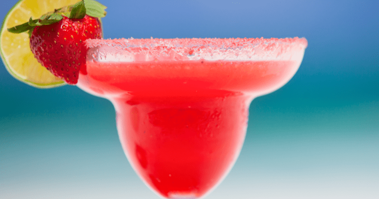 FRESH STRAWBERRY KEY LIME MARGARITAS
