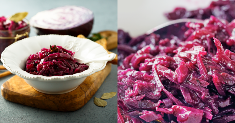 SWEET AND SOUR BRAISED RED CABBAGE