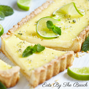 The flavors of a mojito cocktail in a tart. Creamy lime, rum, and mint custard in a buttery, flaky crust.