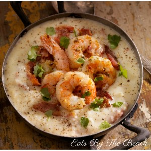 Buttery, sauteed shrimp served over cheesy grits. A Southern Classic.