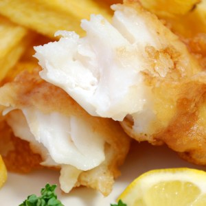 A dish of crispy, crunchy batter fried cod - a batter-fried fish recipe