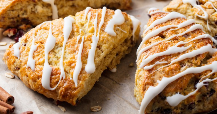 FRUIT AND NUT OATMEAL SCONES