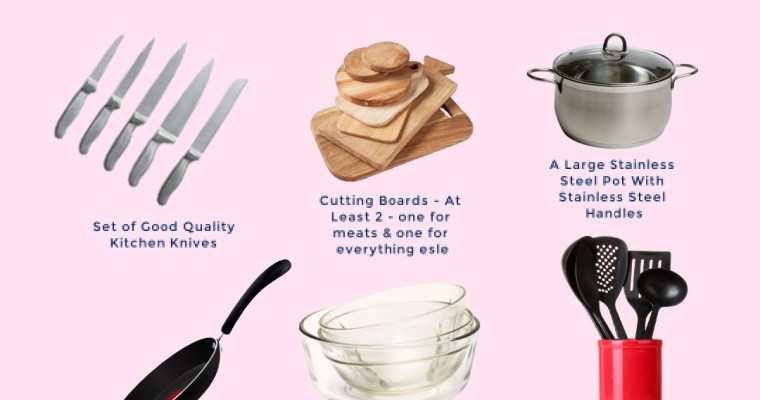 THE 6 ESSENTIAL START-UP KITCHEN ITEMS