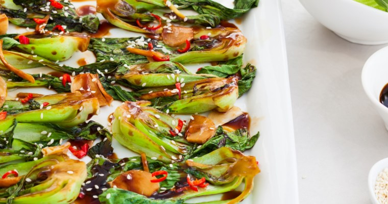 SPICY GARLIC BOK CHOY
