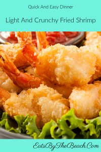 A plate of light and crunchy fried shrimp with a dish of special shrimp sauce. Battered shrimp are rolled in panko bread crumbs and fried to golden perfection, then served with a sweet, tangy, and spicy dipping sauce.