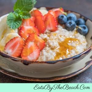 Bowl of Fruit And Honey Irish Oatmeal
