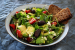 A delicious homemade salad with bread