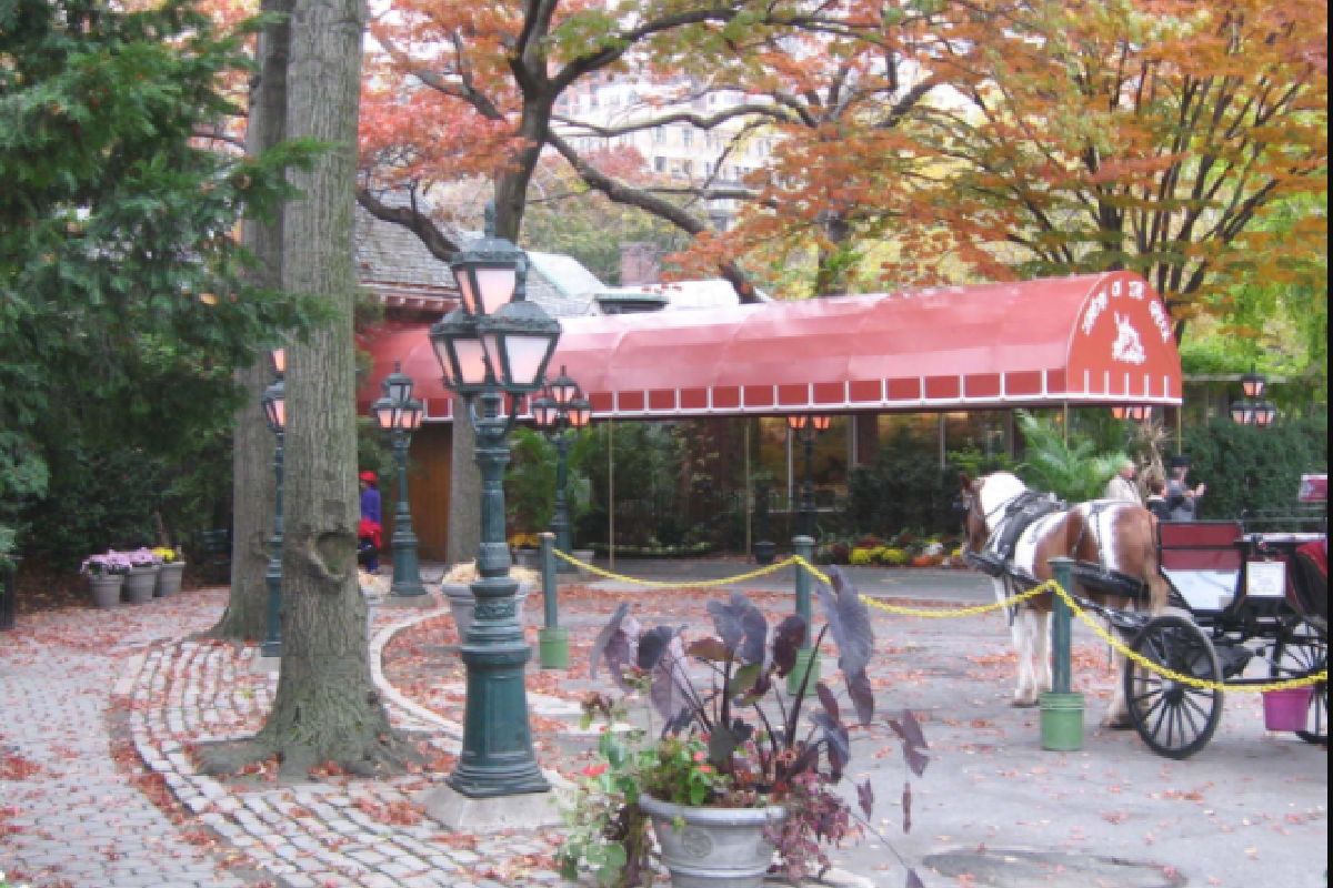 Entrance of the Tavern On The Green Restaurant in Central Park, NYC